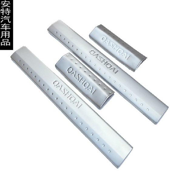 Interior Stainless Steel Scuff Plate Door Sill For 2015 Nissan Qashqai Welcome Pedal Threshold Strip Car Styling Accessories 4 pcs/set