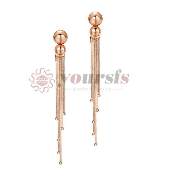 Yoursfs New Fall Fashion l Luxury Gift Glossy Pendant Tassel Earrings Wedding Women Silver Earrings