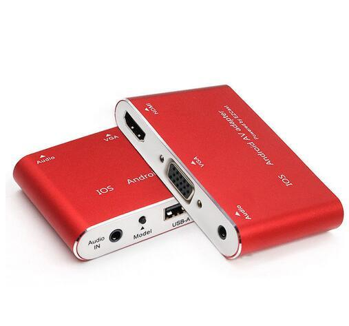 1080P Digital AV Adapter USB to HDMI TV VGA Projector Audio Converter for iPhone 7 6S Plus IPad Samsung Galaxy S8 IOS Android