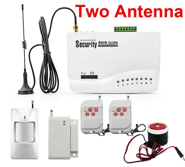 Assaltante da segurança Home sem fio Sistema de alarme GSM Auto Dialer SMS SIM Chamada (bateria interna) Antena dupla
