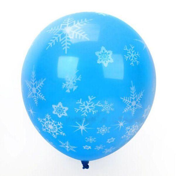 2016 heißer Verkauf Mode Blau Weihnachten Hochzeit Latex Ballon Geburtstag Party Supplies Dekorationen Gefrorene Schneeflocke Neu