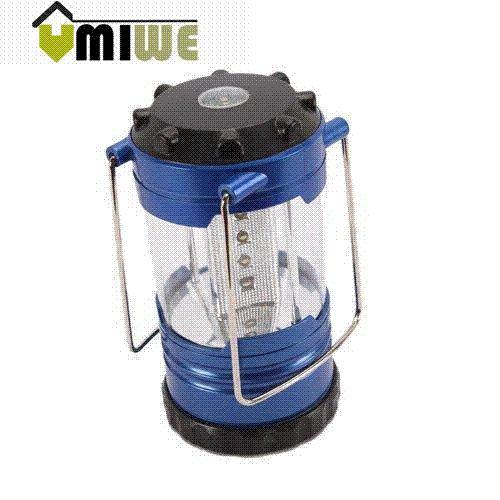 Umiwe 12 LED Portable Camping Camp Lantern Light Lamp With Compass,Blue Portable Lanterns Cheap Portable Lanterns