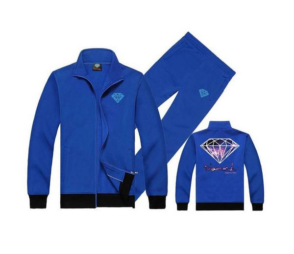 Diamond Supply sweat suit (S-5XL) Autumn Slim Hoodies Men Sweatshirt Long Sleeve Pullover Sportswear Male Patchwork Fleece