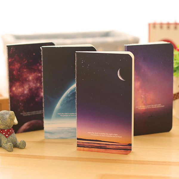 best selling Vintage Romatic Starry Sky Series Kraft Paper Notebook Journal Diary Notepad Vintage Soft Copybook Daily Memos Pads
