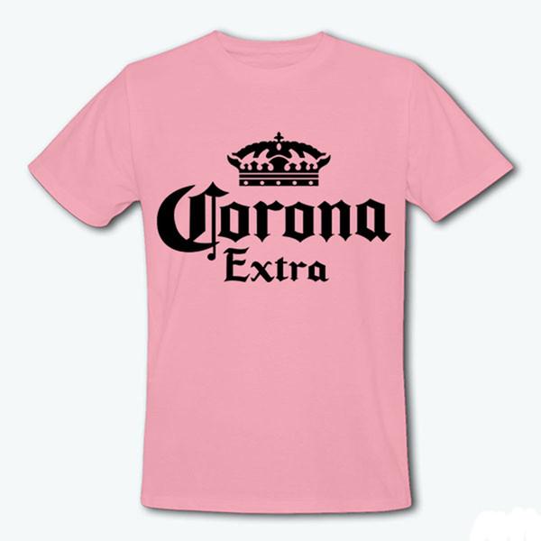 도매 브랜드 탑 코로나 여분의 밴드 T - 셔츠 MenWomen 여름 편지 Tshirt 캐주얼 반소매 크라운 티 T 셔츠 Femme T - F10860