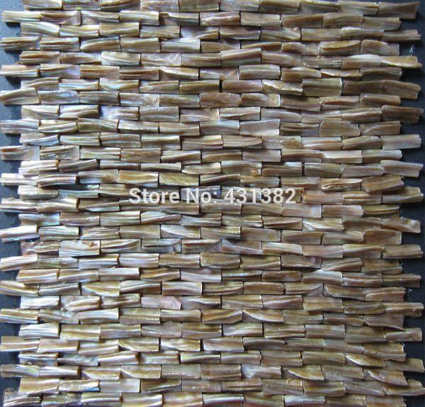 Compre El Azulejo Nacarado Al Por Mayor 3d Mosaicos Decorativos De La Cáscara Endureció El Azulejo Del Salpicadero La Cocina Del Baño De La Pared