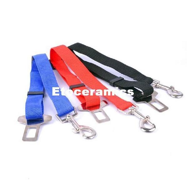 Fil de sécurité réglable pour chien de compagnie chat chien ceinture de siège de voiture clip de ceinture de sécurité fournitures fournitures