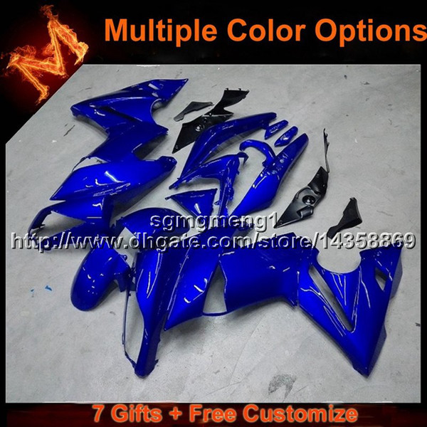 23colors+8Gifts BLUE motorcycle cowl for Kawasaki ER6F 09 10 11 ER 6F 2009 2010 2011 motor cover ABS Plastic Fairing