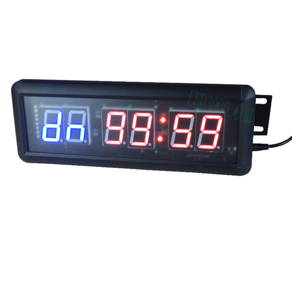 free shipping 1.5inch GYM Crossfit Timer LED Interval Timer Training Time And Rest Time Alternate CountdownCount up As A Stopwatch