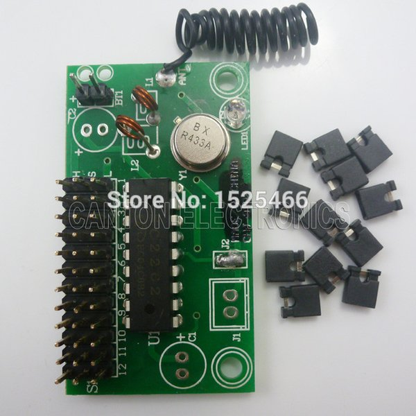 DC 5V 12V 1 CH 433Mhz ASK OOK PT2262 SC2262 Encoded Transmitter Module for GSM SMS Home Burglar Security Alarm System