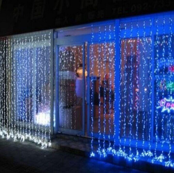 Free shipping 1000 LEDS 10*3m Curtain Lights, Christmas ornament lights,Flash Colored Fairy wedding Decoration LED Strip Light