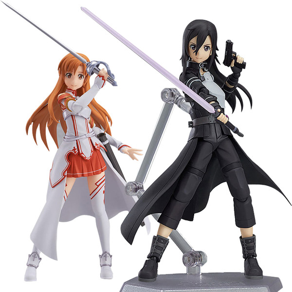 Anime Sword Art Online kirigaya kazuto Figma 174 Figma 178 Figma 248 PVC Action Figure Collectible Model Toy for kids toy 13cm free shipping