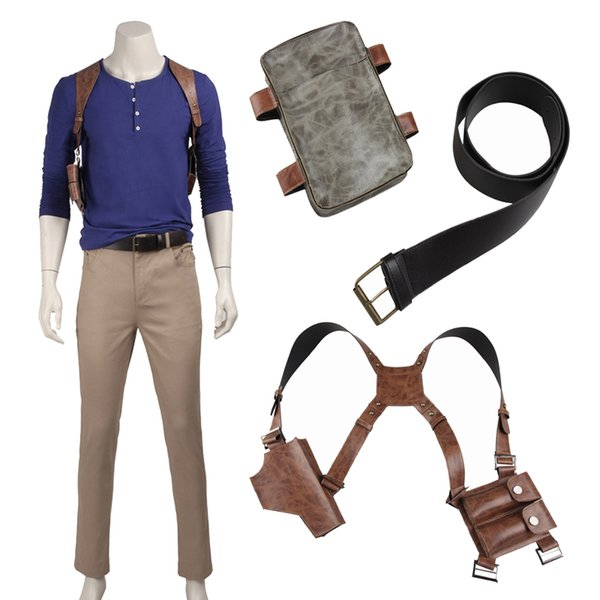 New Game COS Uncharted 4 A thief's end Nathan Drake Cosplay Costume Full Suit Any Size Custom-Made