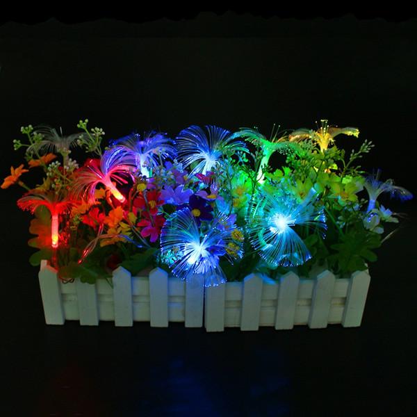 2AA alimentato a batteria fibra di 2.5M 10 LED ha condotto la luce della stringa leggiadramente per la festa di nozze del partito del giardino di cerimonia nuziale Luce