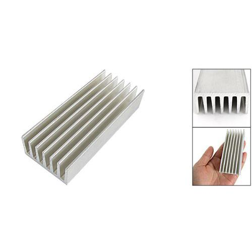 Wholesale- CAA Hot New 98 x 40 x 20mm Silver Tone Aluminium Heat Diffusion Cooling Fin