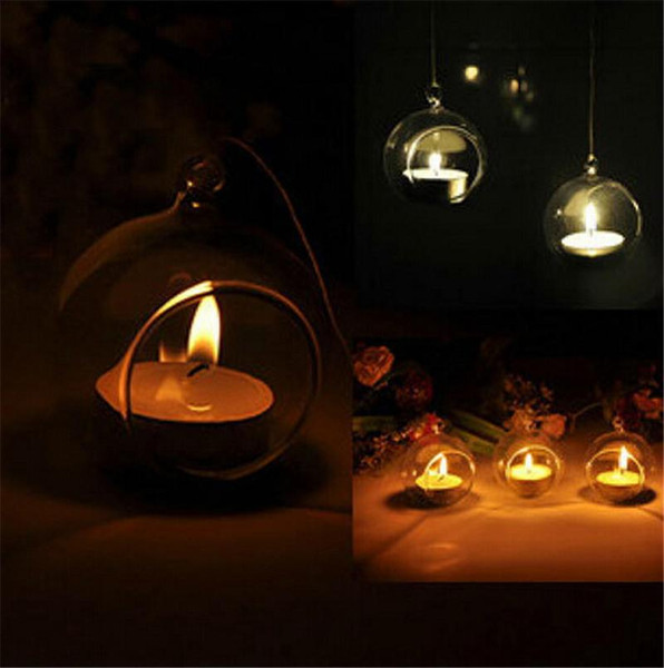 2017 cheap wholesale Romantic Crystal Glass Hanging Candle Holder Candlestick Wedding Dinner Decor 48 pieces/lot