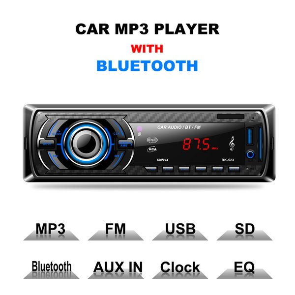 Multi-function car stereo Bluetooth MP3 player DC 12V remote control RK523 HD Radio Digital FM stereo radio