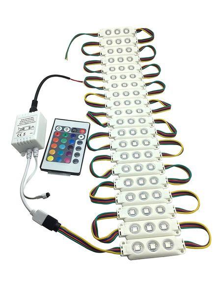 Iluminación de vacaciones 5050 Inyección 3 Módulo LED RGB Módulos DC12V a prueba de agua Para letras de canal firmar luces de letras