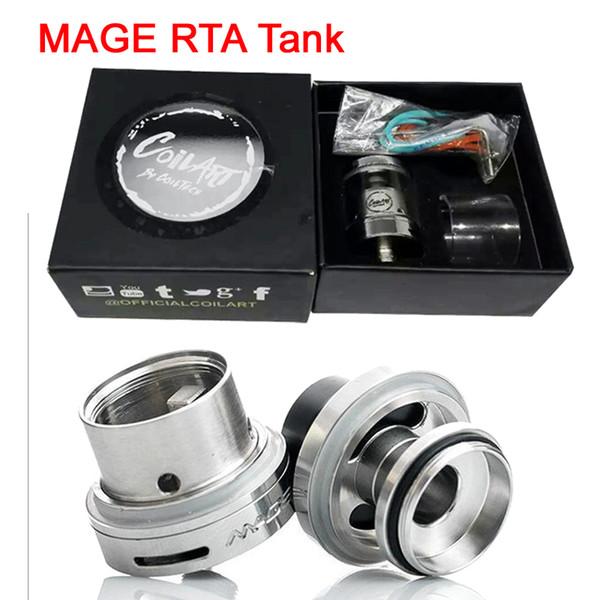 Coil Art MAGE RTA Réservoir Clone Coilart Mega RTA 3,5 ml Capacité 24 mm avec tube en verre de rechange pour 510 Mods DHL Free ATB520