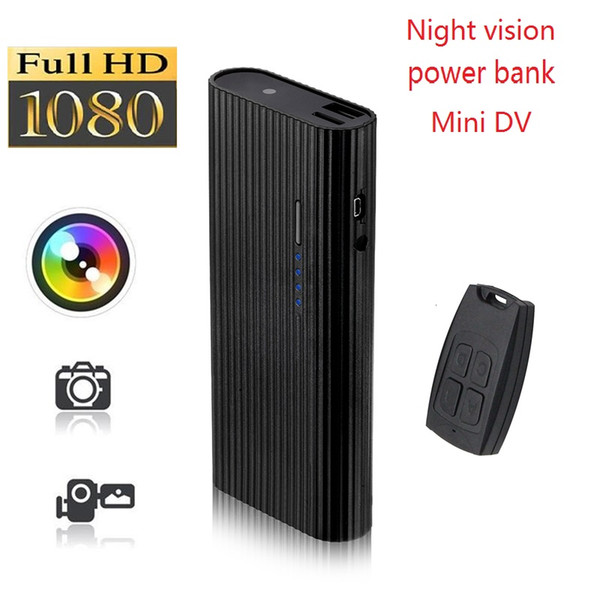 Night Vision power bank camera DVR Full HD 1080P 6000mah Power Bank Video Recorder With remote control support Motion Detection