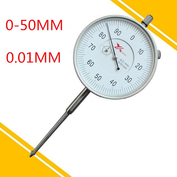 best selling Wholesale-0-50 mm 0.01 mm Dial Indicator dial indicator gauge 0-50mm Measuring Tool in stock