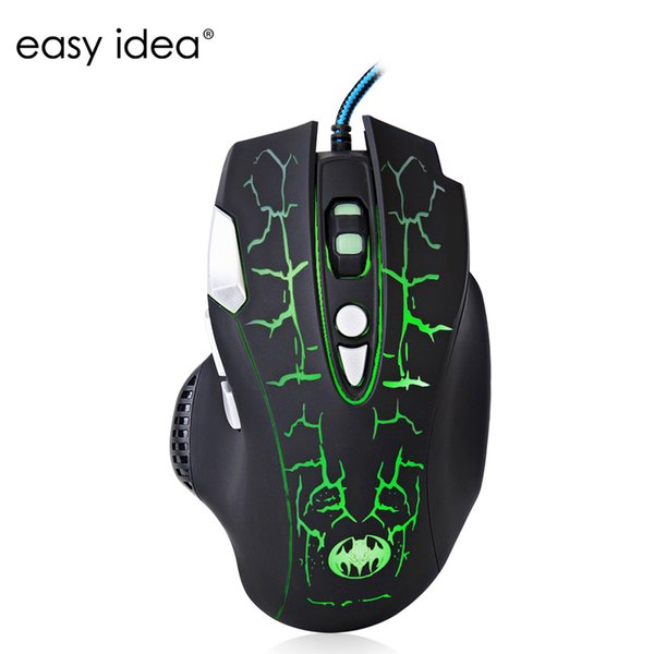 Wholesale- High Quality 5500DPI Wired Gaming Mouse 8 Buttons USB Optical Mouse Gamer Mice Computer Mouse Q7 For PC Laptop Desktop