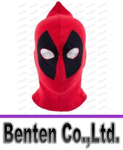 best selling Free shipping Wholesale Koveinc Halloween Deadpool mask Cosplay Costume Lycra Spandex Mask Red   Red Adult sizes LLFA88