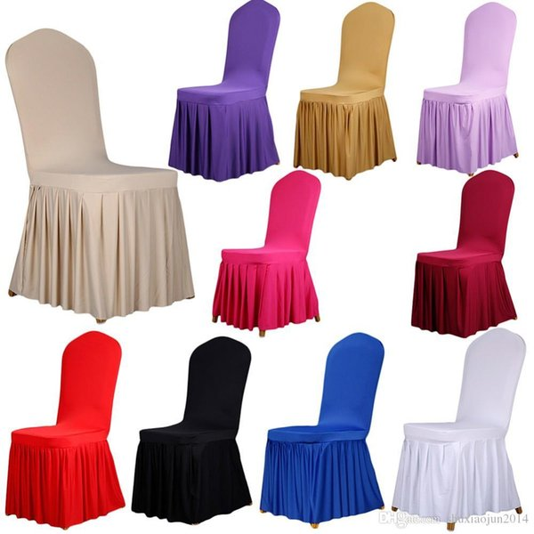 Hot Sales Universal Stretch Polyester Spandex Wedding Party Chair Covers for Weddings Banquet Hotel Decoration Decor
