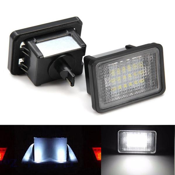 2pcs 18 LED Error Free Number License Plate Light Car Bulb Auto Lamps Rear Light Source Fit For Mercedes Benz GLK 204