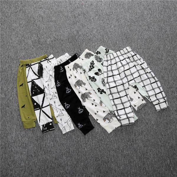 Çocuklar için bebek giysileri Tayt INS Sıcak Erkek kız Bebekler Pantolon Toddler harem PP pantolon pantolon güzel Tam baskı Legging