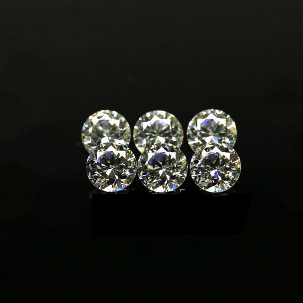 Prezzo poco costoso Dimensioni piccole 0.7mm-1.6mm 3A Qualità Diamante Simulato Bianco Forma Rotonda Cubic Zirconia Sciolto CZ Pietre Per Monili Che Fanno 1000 pz