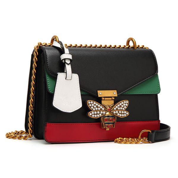 top popular 2018 Ruil Women Color splicing Little bee Bags Fashion Zipper Designer Handbag Casual Shoulder Messenger Bag New Sac Femme. 2019