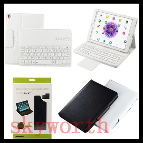 Removable Wireless Bluetooth Keyboard leather Case Stand For ipad pro 9.7 air mini 2 3 4 5 6 Galaxy tab3 P5200 Nexus