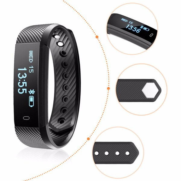 ID115 Smart Band Bracelet Fitness Tracker Watch Wireless Touch Screen Sleep Monitor Activity Step Distance Calorie Counter for Android/ IOSc