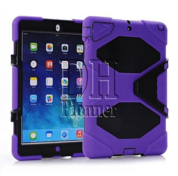 G Heavy Duty Dust Shock Proof With Stand Hang Cover Case For Ipad 2 3 4 mini 5 6 air Hybrid holder 50pcs