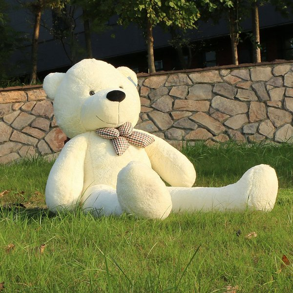"2017 New 63"" 160 cm White Giant Teddy Bear Big Huge Stuffed Toy Birthday Gift"