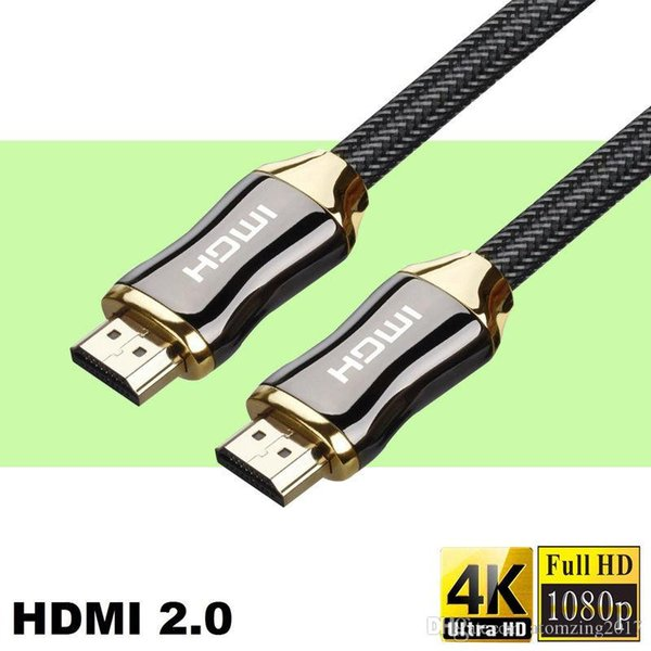 Premium HDMI Cable to HDMI 2.0 Version Ethernet 24K Gold-Plated Plug 3D 4k 2160P HDTV Digital HDMI Cable