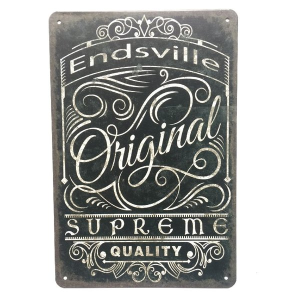 Endsville Original Retro Vintage Metal Tin sign poster for Man Cave Garage shabby chic wall sticker Cafe Bar home decor