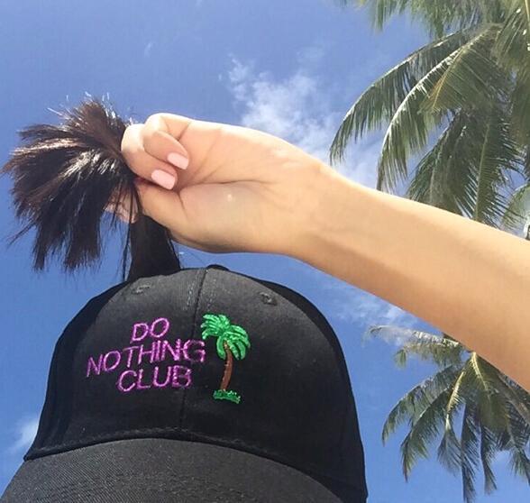 2016 preto DO NOTHING CLUB letras homens Legal snapback curvo homens bonés de pico de alta qualidade da marca casquette chapéus de caça strapback tampas de golfe PP