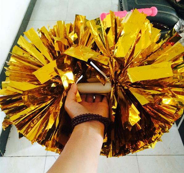 top popular New Party carnival Cheering pom pom plastic handle Cheerleading Flower dance hand ball sports vocal concert cheerleaders ball event supplies 2021