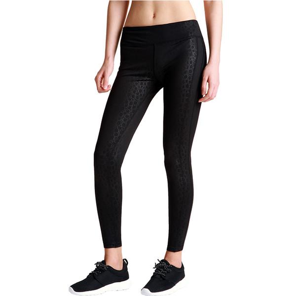 Wholesale-Women Black Skull Pattern Sexy Leggings Casual Tight Sports Leggings Fitness Yoga Compression Pants Elastic Running Trousers