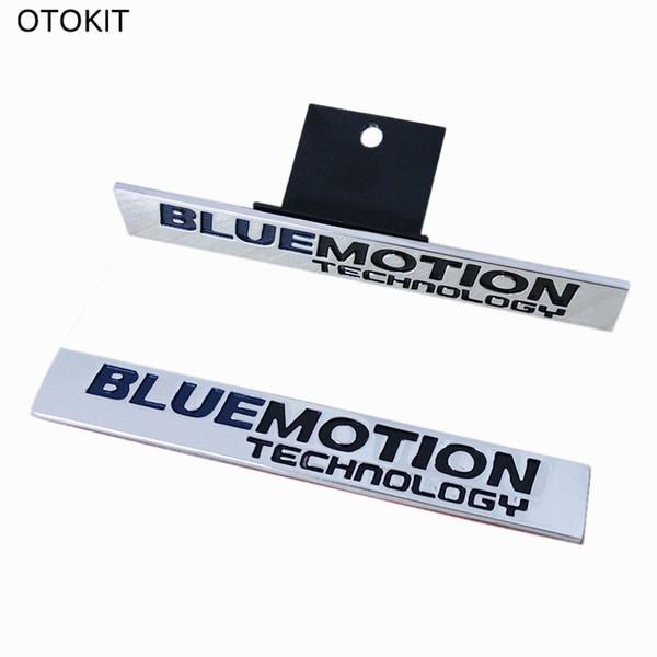 New Car Badge 3D Metal Emblem BLUE MOTION TECHNOLOGY Sticker Tail Head Vehicle Car Styling for VW MAGOTAN CC Sagitar Golf