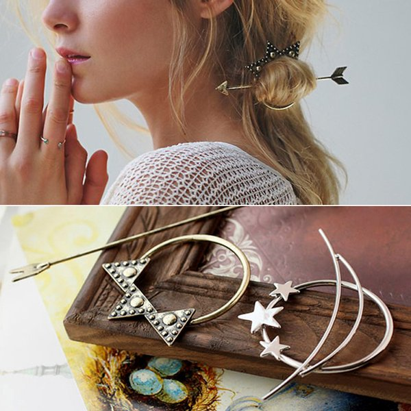 top popular Europe and the United States and the influx of people retro magic arrow arrows hairpin personality of the influx of people jewelry a 2019