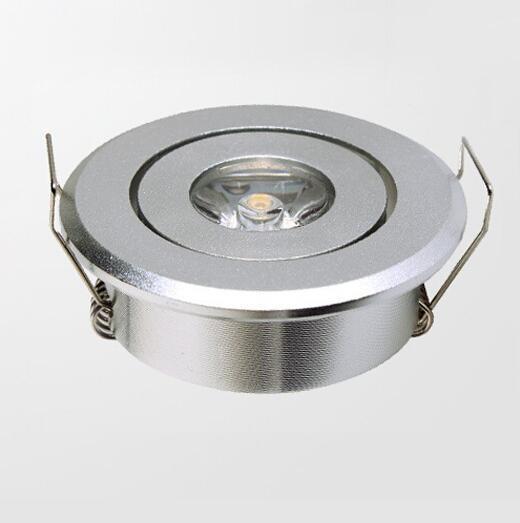 10pcs / lot Mini led 1W armoire downlight led (taille du trou: 45mm), LED Star Light certifié CE RoHS, Plafond LED Spot Light