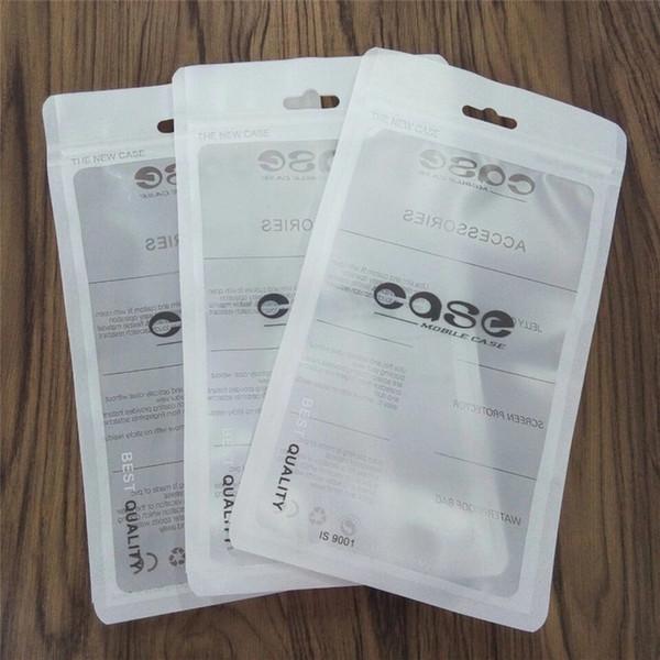 Zip-Lock-Taschen Reißverschluss Einzelhandel Paket Tasche Handy Iphone Fall Kunststoff Klar Verpackung Taschen Reißverschluss Zip-Lock Hang Loch Paket Beutel Taschen