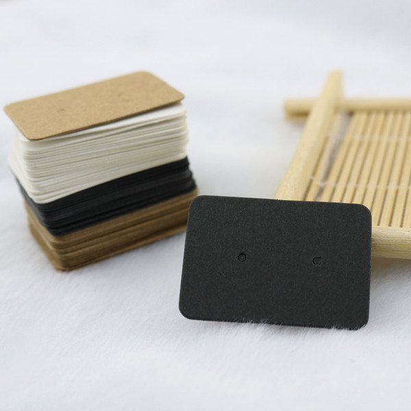 best selling Wholesale-Wholesale 100pcs lot Fashion Jewelry Ear Studs Packaging Display Tag Thick Kraft Paper Earring Card Jewelry PrTags 2.5x3.5cm
