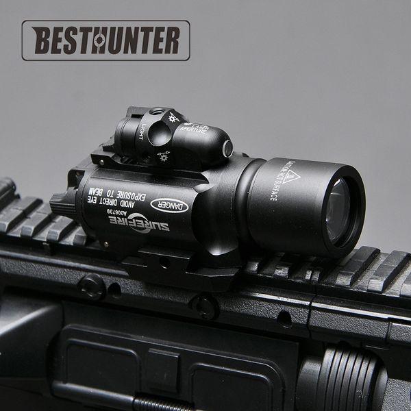 Surefire LED Rifle X400 pistola torcia con mirino laser rosso per portata del fucile per la caccia
