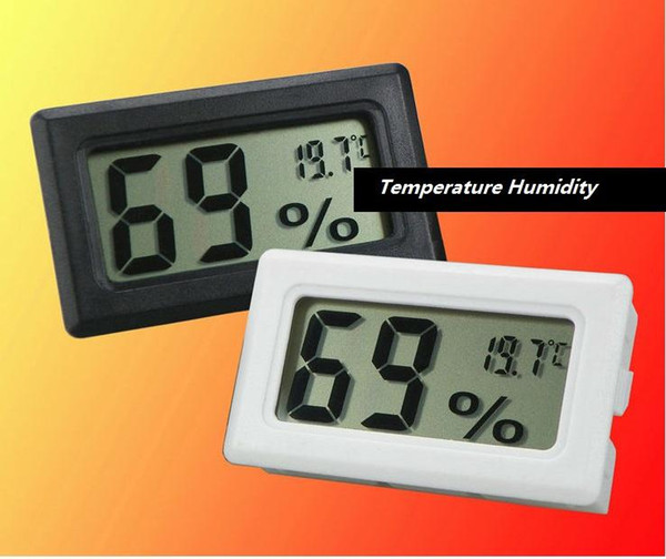 best selling Mini Digital LCD Indoor Temperature Humidity Meter Thermometer Hygrometer Temperatures Gauge Hygrometers Aquarium Thermometers Fed DHL 100