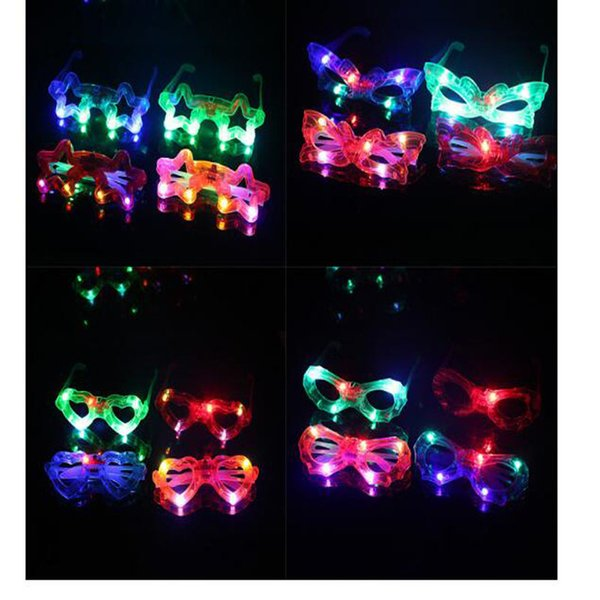 Spiderman Led Glowing Glasses For Kids Fashion Christmas Decorations Party Birthday Performance Makeup Baby Bright Sunglasses