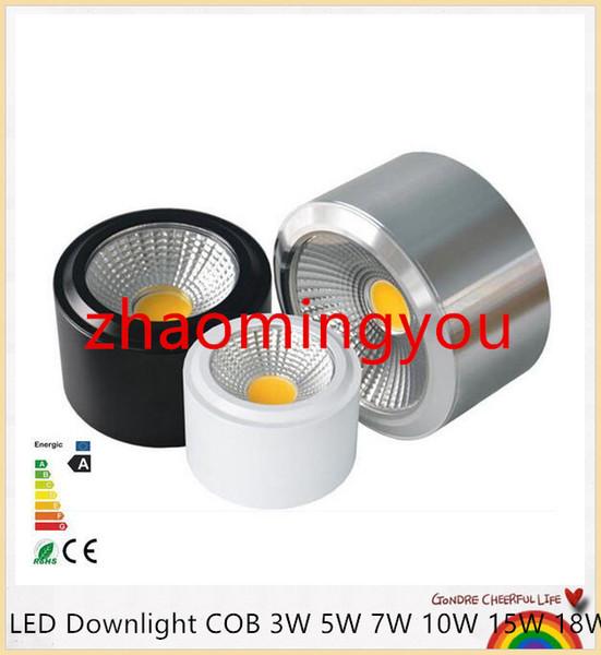 Dimmerabile LED COB Downlight 3W 5W 7W 10W 12W 15W 18W 85-265V Montaggio a parete Spot luce a led per la casa Cucina Arredo bagno